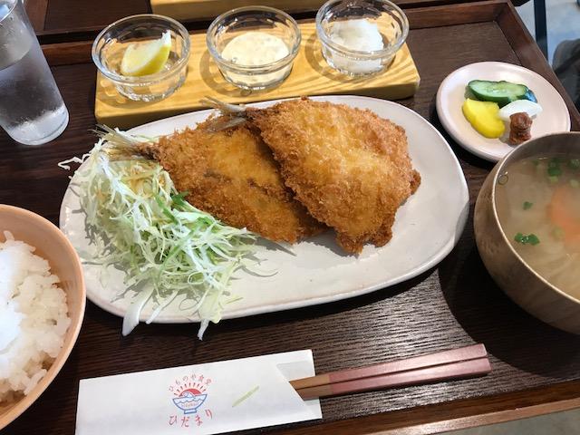 アジフライ定食(よあけ880円)